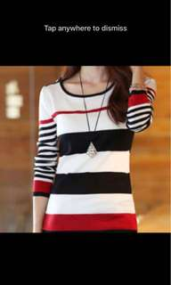 Brand new ladies stripes top
