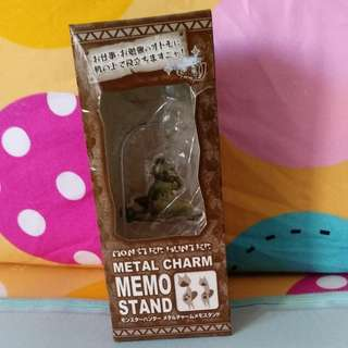 Japanese Monster Hunter Metal Charm Memo Stand