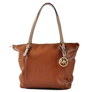 Michael Kors tote bag in tan brown (genuine leather)