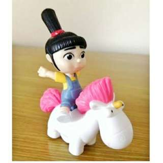 MC DONALD'S HAPPY MEAL TOY DESPICABLE ME AGNES' ROCKIN' UNICORN