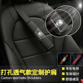 Brand New High Quality Leather Seat Belt Cover Shoulder Pad for Mercedes Benz