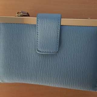 Sky blue wallet