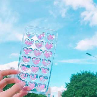 heart shape design clear case 💕