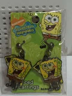 海綿寶寶穿耳環 SpongeBob SquarePants Pierced Earring (Brand new全新)