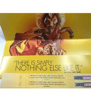 The Lion King April 1 8pm