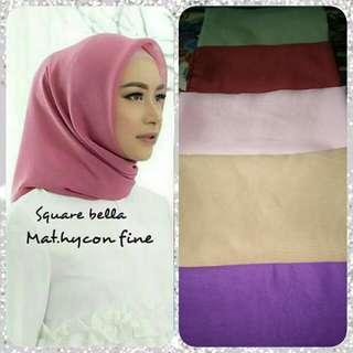 Hijab segiempat bella square