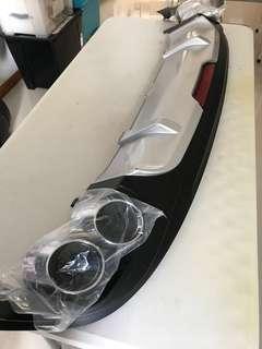 Hyundai Elantra ad 2017 rear bumper diffuser decor