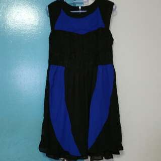 Brand New Little Match Girl Blue & Black Dress Size XL with Free Mail
