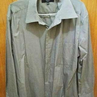 G2000 Male Slim Fit Grey Shirt (Size L)