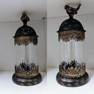 Vintage candle holder or ornaments display case