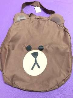 Line Friends 熊大 大頭 Tote Bag