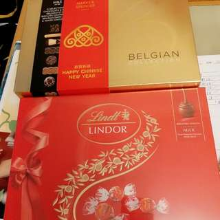 marks &Spencer and Lindor chocolate 80 for 2