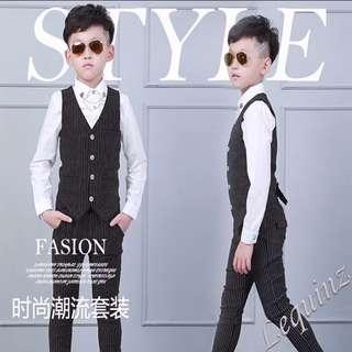 Boy Kids Suit With Vest Flower boy Wedding