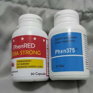 FAMOUS PHEN375 +  REDUCE INTAKE + BURNS + SLIMMING LOSE WEIGHT DIET + EXTRA STRONG FAT BURNER PHENRED SUPER BUNDLE SET