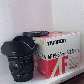 Tamron nikon 19-35mm zoom