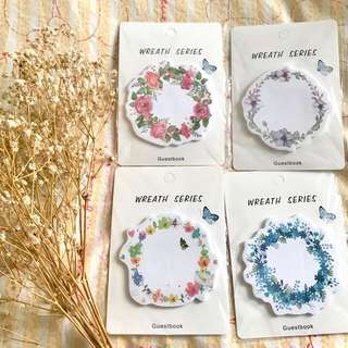 Flower Wreath Post-its