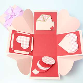 Cute Pink Hearts Explosion Gift Box
