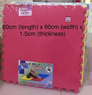 New Play Mats/ Sport Mats (red, yellow & blue) - 4pcs/pack