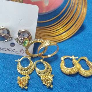 Earrings and bangles