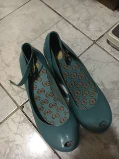 REPRICED! AUTHENTIC MELISSA BLUE PATCHULI WOMEN'S WEDGE SHOE!