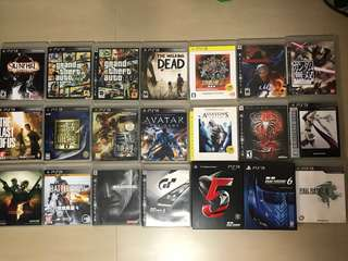 PS3 Game  GTA  Walking Dead  機戰Z  FF13  三國無雙  The last of us  GT5  GT6  Avatar