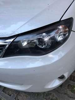 Impreza wrx hatchback headlamp
