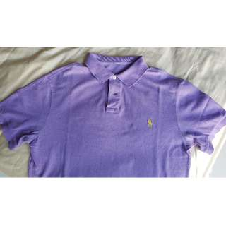Polo Ralph Laren Purple Polo Mesh Tee Custom Fit M