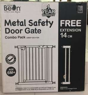 Little Bean Metal Baby Safety Gate (Free extension 14cm)