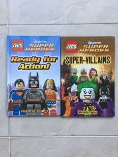 2 LEGO Super Heroes Books