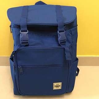 韓國SPAO藍色多用途背囊雙肩包背包書包 backpack school bag