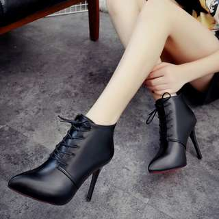 (PRE-ORDER) Ankle High Heels Boots BO001