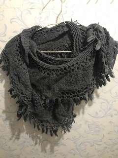 Scarf 灰色 圈圈頸巾