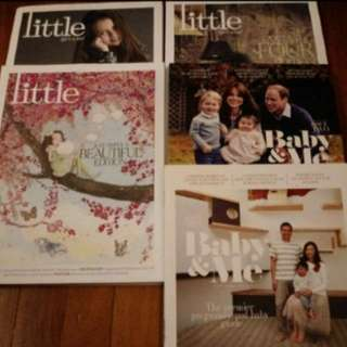 Set of 5 Little and Baby and Me Parenting magazines