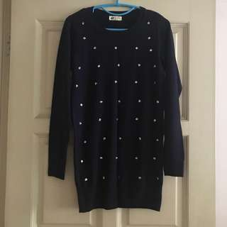 H&M Knitted Dress with Sequin Detail