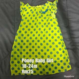 Poney Baby Dress