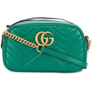 Gucci GG Marmont crossbody bag 綠色春夏系列包100% new & real