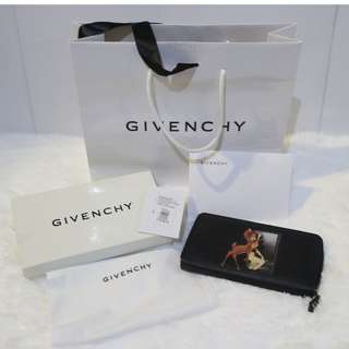 Givenchy Black Bambi Zip Around Wallet