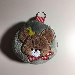 【全新】小熊拉鍊小包 | 零錢包 造型包 | 絨毛材質