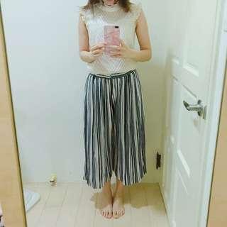 條紋顯瘦寬褲