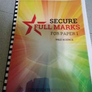 Secure full marks for PSLE Science paper 1