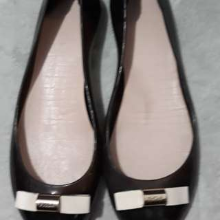 Repriced!!!Authentic Furla Black Jelly Shoes