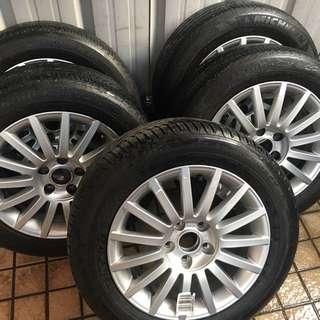 奧迪原廠16吋五孔112輪圈--A3--A4--A6--A8-80--100--TT--AUDI