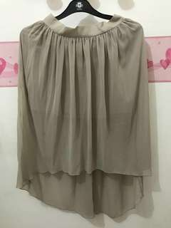 ASSYMETRIC SKIRT (EUROPE LOCAL BRAND)