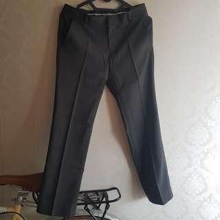 Celana kerja/ hitam/ bahan