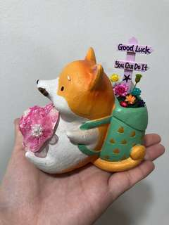 🌈SALE!! Only $9 each! Real Preserved Frozen Flowers Handmade Fox Plant Pot Terrarium Deco Good Luck You Can Do It Stay Happy