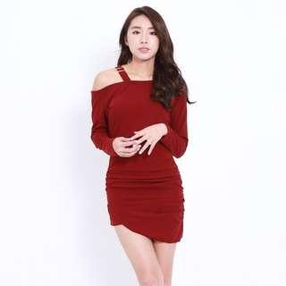 (PO) Shoulder Buckle Dress