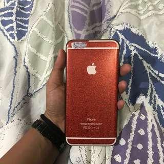 Case glitter iPhone 6+ red