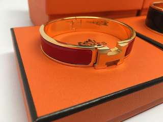 Hermes Bracelet Red+Gold OR Navy+Gold