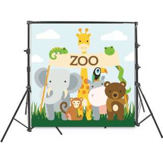 RENT - ZOO PVC BACKDROP RENTAL