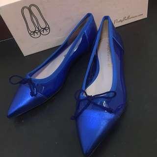 🚚 低跟鞋藍色西班牙製。正品